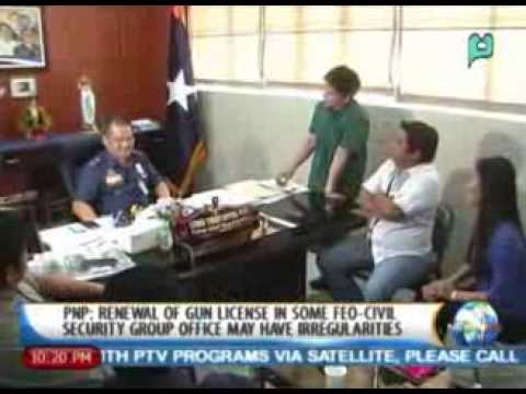 PNP: Renewal of gun license in some FEO-civil security group office may have irregularities