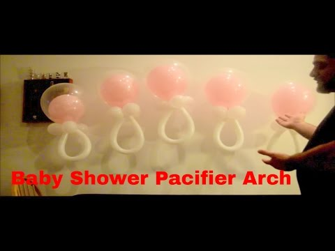baby shower balloon pacifier arch how to make balloon decorations