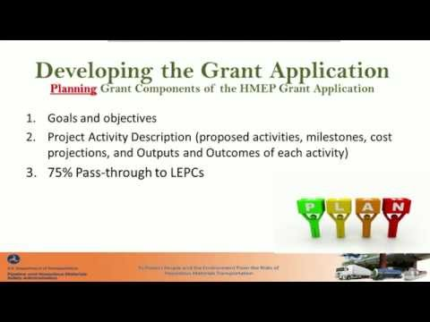 Webinar: How to Apply for a Hazardous Materials Emergency Preparedness Grant (HMEP)