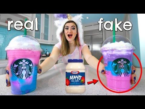 People Try the Starbucks Unicorn Frappucino PRANK