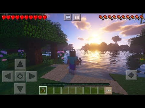 MCPE 1.2 BEST SHADERS - Minecraft PE Ultra Realistic Shaders Texture Pack