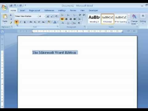 Using the Ribbon in Microsoft Word 2007: A Free Tutorial By Macresource Computer Training