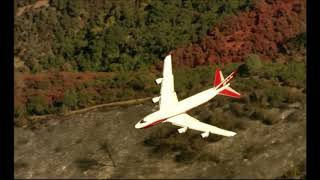 TUBBS FIRE NAPA - Retardant Drop from Super Tanker 10/13/17