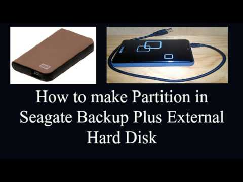 How to make Partition in Seagate Backup Plus External Hard disk