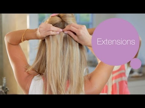 How to Put in Hair Extensions - ModernMom Makeover