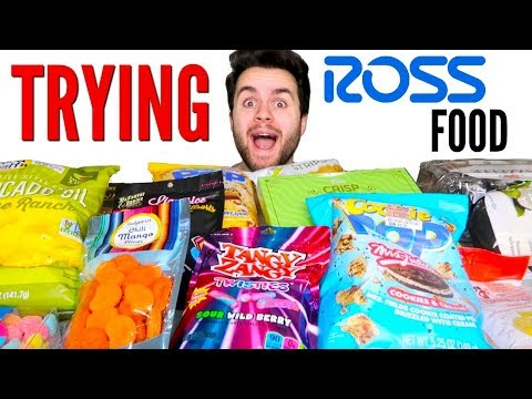 Ross FOOD Haul! - Trying Clothing Store Food!