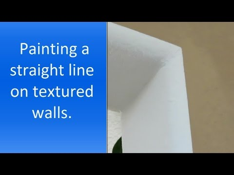 How to paint a straight line on a wall.