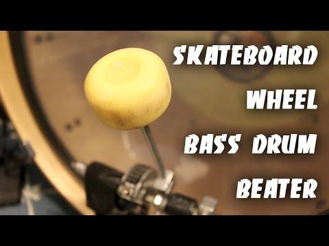 Skateboard Wheel Bass Drum Beater