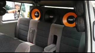 Microbus with 10 subhoofers