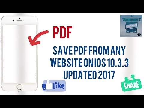 How to save pdf In iphone ipad and updated ios 10.3.3 2017 latest