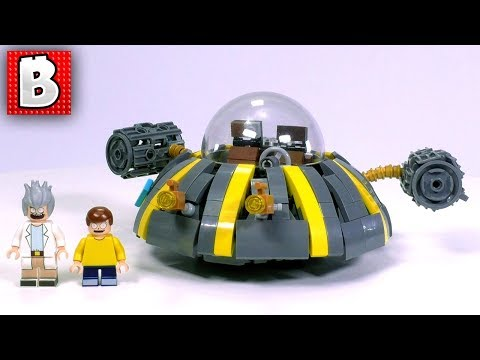 LEGO Rick's Spaceship! Rick and Morty MOC | Build Time Lapse Review