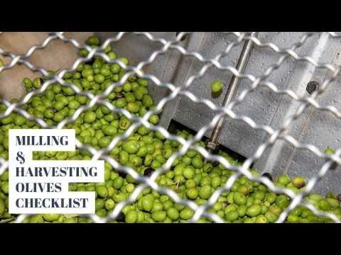 Milling and Harvesting Olives Checklist