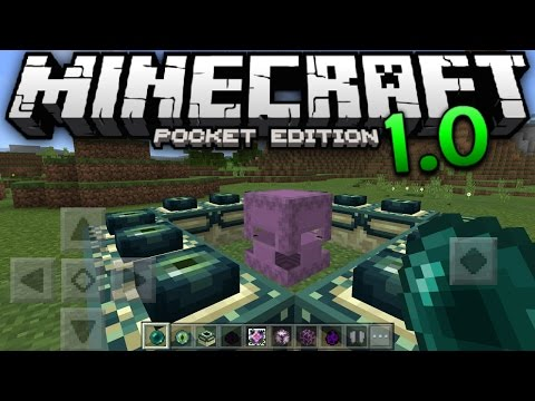 MCPE 1.0 FEATURES GAMEPLAY - The Ender Update 0.17.0 - Minecraft Pocket Edition