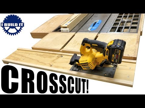 DIY Crosscut Guide Track For The Table Saw / GENIUS IDEA!