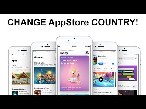How to Change Country/Region in AppStore!