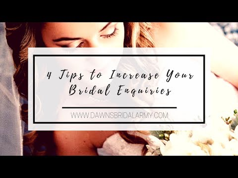 4 Tips to Increase Your Wedding Enquiries