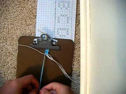 How To Make Letter D Friendship Bracelet