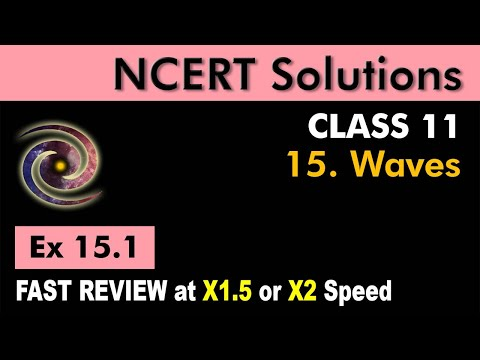 Class 11 Physics NCERT Solutions | Ex 15.1 Chapter 15 | Waves