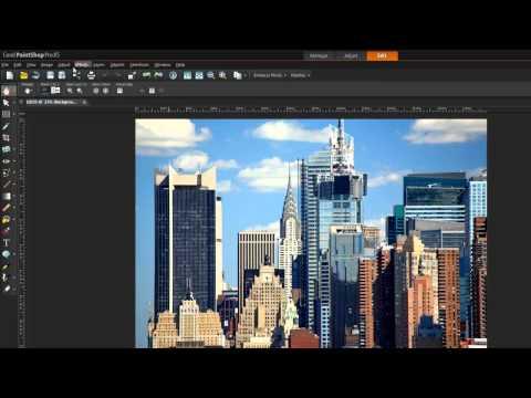 Tutorial: PaintShop Pro X5 Workspace Tour -- Edit