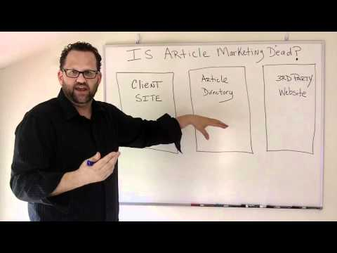 Article Marketing-Is Article Marketing Dead?