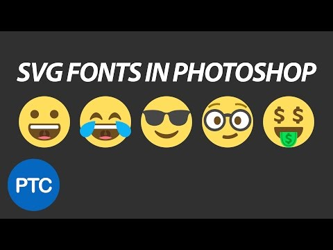 SVG Fonts In Photoshop CC 2017 - Emojis In Photoshop!