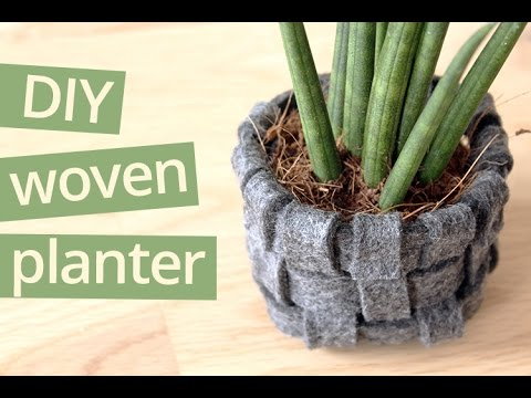 DIY woven planter tutorial