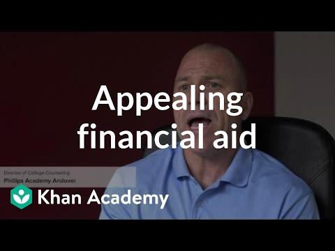 Appealing a financial aid package
