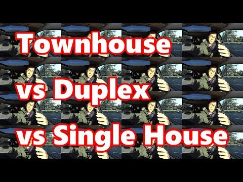 Townhouse VS Duplex VS Single House : Which home to buy?