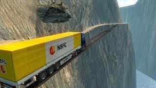 لن تجرؤ على عبور هذا الطريق... أفضل سائقي الشاحنات في العالم !!