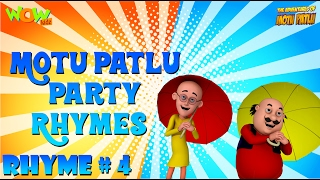 Party Rhymes 04 - Motu Patlu Rhymes - Available Worldwide!