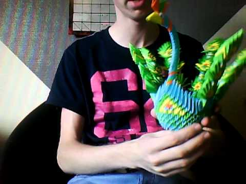My 3D Origami Peacock.