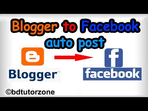Bangla- How To Share Blogger Post Automatically To Facebook
