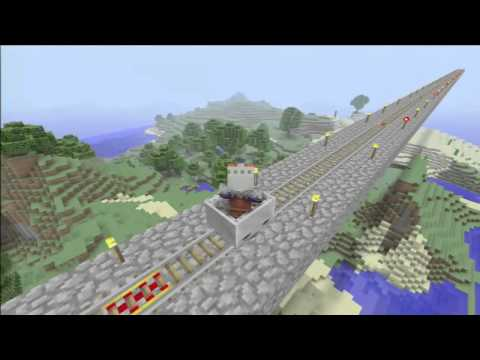 Longest minecart track in Minecraft for Xbox 360