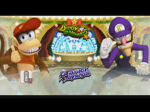 Mario Super Sluggers Season 4 Game 12 | Diddy vs Waluigi @ Peach Ice Garden