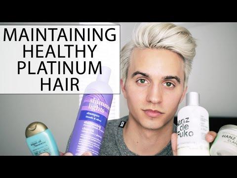 Men's Hair: How to Maintain Healthy Platinum Hair