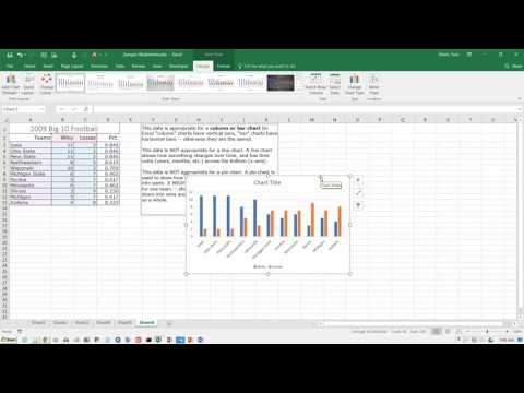 Excel 2016: Creating a Column Chart