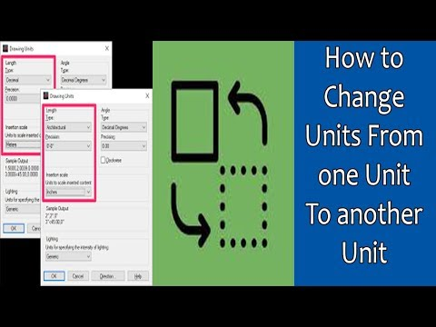 How to convert AutoCAD drawing from one unit to another unit?