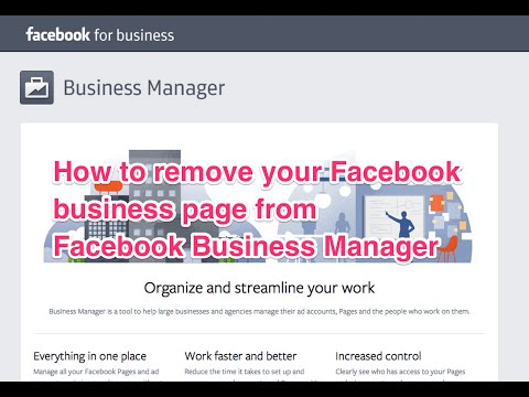 How to remove your page from Facebook Business Manager