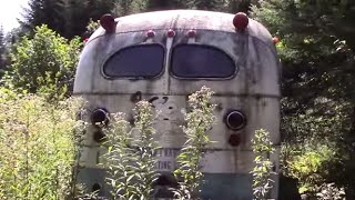 Searching for stuff in the river and I found a bus!