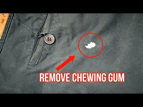 How to Remove Chewing Gum from Clothes | Life Hacks