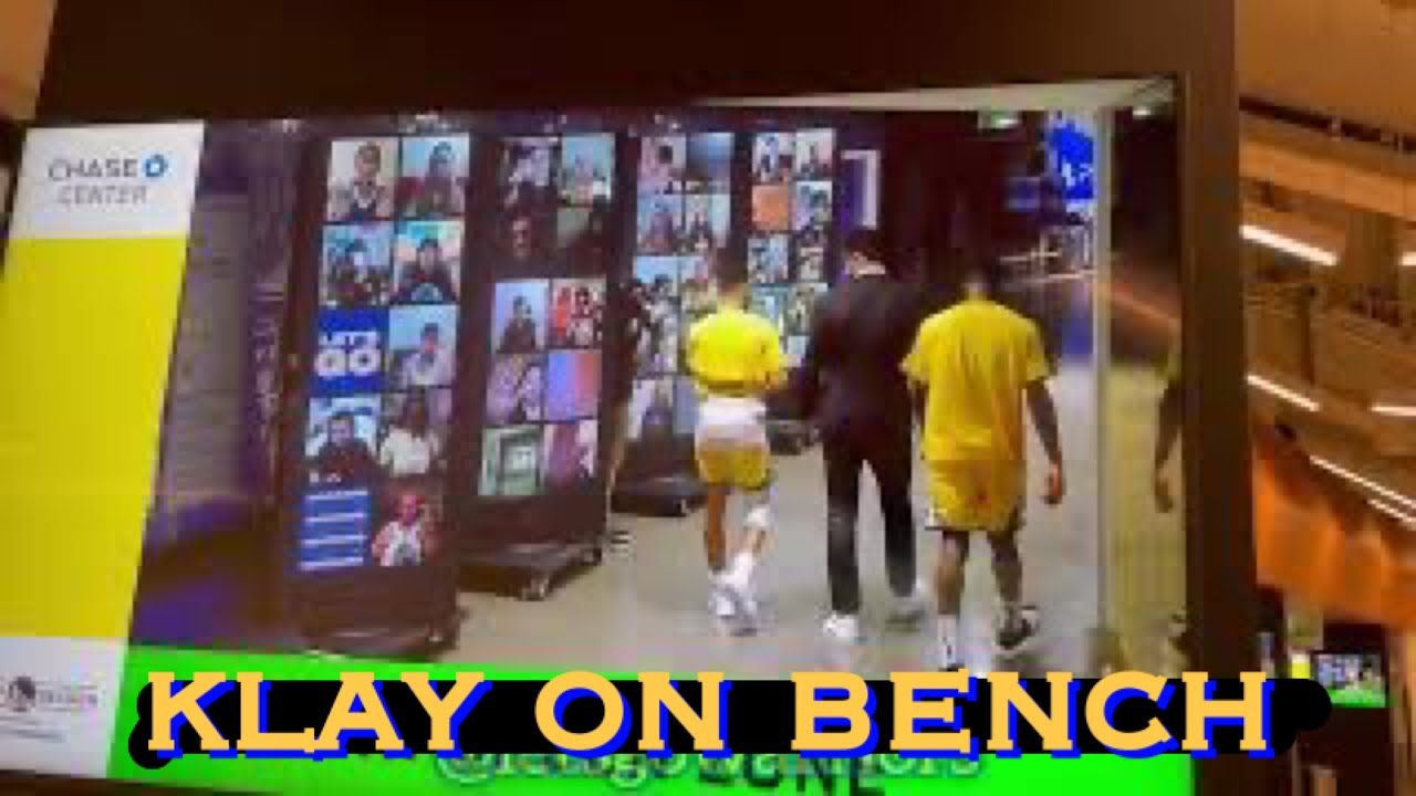 📺 Klay on the bench, Stephen Curry and Wiseman glimpses at Chase Center, Warriors v Milwaukee Bucks