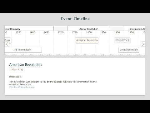Timeline Slider Events with jQuery