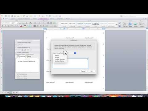 Microsoft Mail Merge 2011 for Mac
