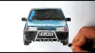 ❤️Vaz 099 nece cekilir❤️(Ehedov Elnur)❤️Как нарисовать ваз 21099❤️Car Lada VAZ-21099 How to Draw  Production Music courtesy of Epidemic Sound!