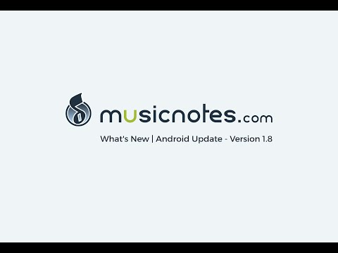 Musicnotes Sheet Music Player for Android | What's New | Demo