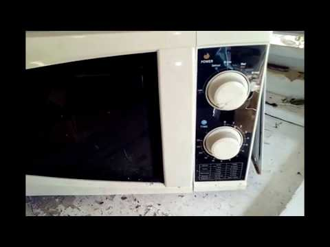 How to scrap an old mechanical  microwave oven for copper metal cash money