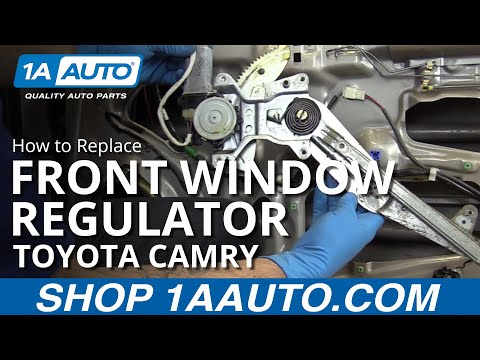 How to Replace Install Front Window Regulator 97-01 Toyota Camry