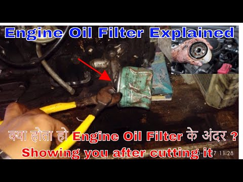 Engine oil filter | What is inside after cut it ?