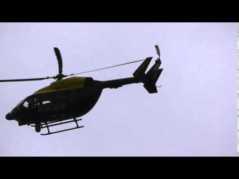 up Met Police helicopter  after Obama has gone 24apr16 London Stansted 1058am