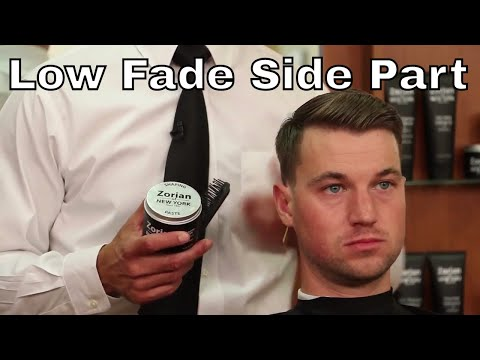 Low Fade with Side Part Haircut - Greg Zorian Haircut Tutorial